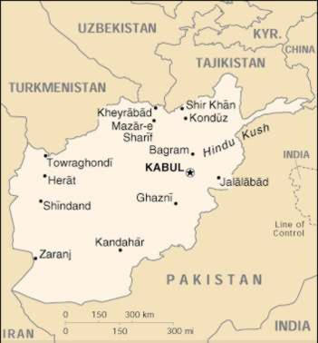 Up Travel Afghanistan Maps Cities Map Cities Of Afghanistan - Charikar map