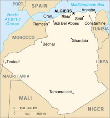 Up Travel Algeria Maps Cities Map Cities Of Algeria - Cities map of algeria