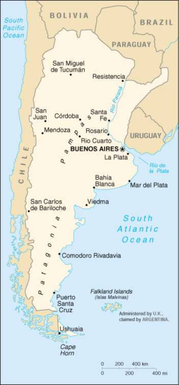 map of argentina with cities. Map Of Argentina