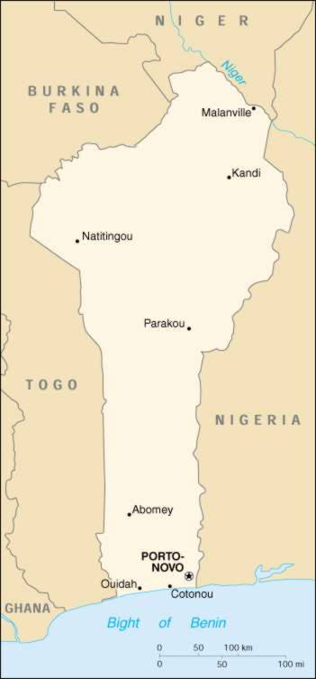 Map Of Benin