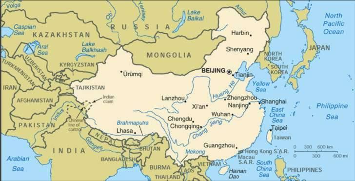 1Up Travel - Maps of china. China Maps