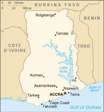 1Up Travel Ghana Maps Cities Map Cities of Ghana