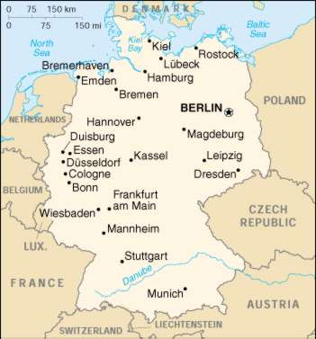 1Up Travel Maps of Germany Germany Maps