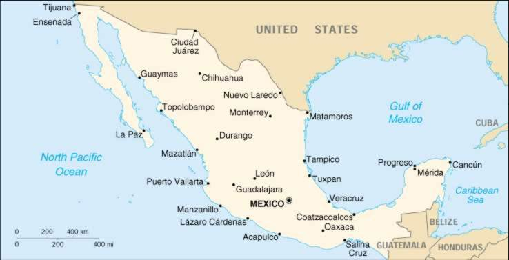 1up Travel Maps Of Mexico Mexico Maps