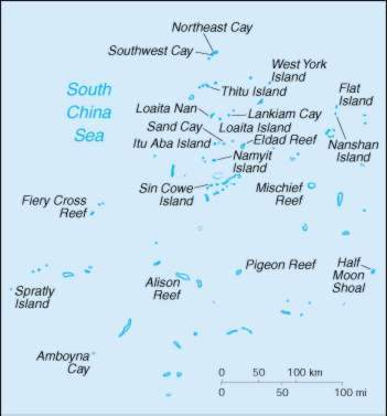 Map Of Spratly Islands