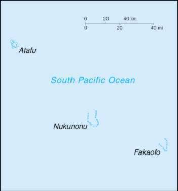 Map Of Tokelau